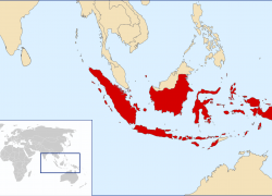 Indonesia in world map from commons 6