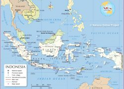 Indonesia in world map from nationsonline 4
