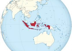 Indonesia in world map from theworldtravelguy 3