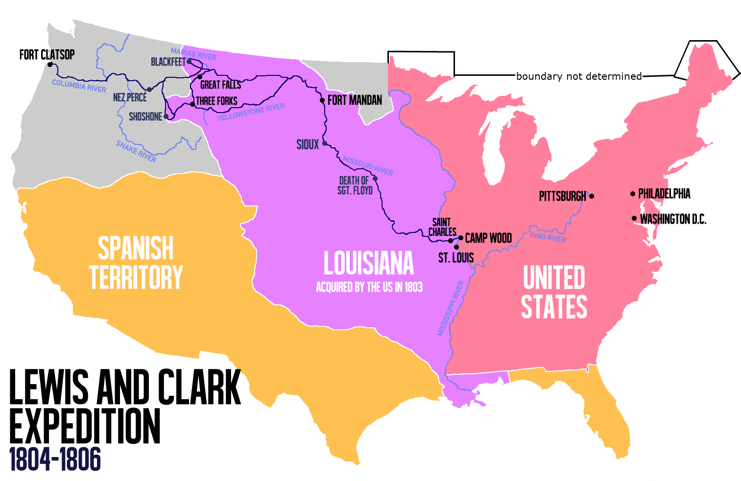 Lewis And Clark Expedition Map From En 3