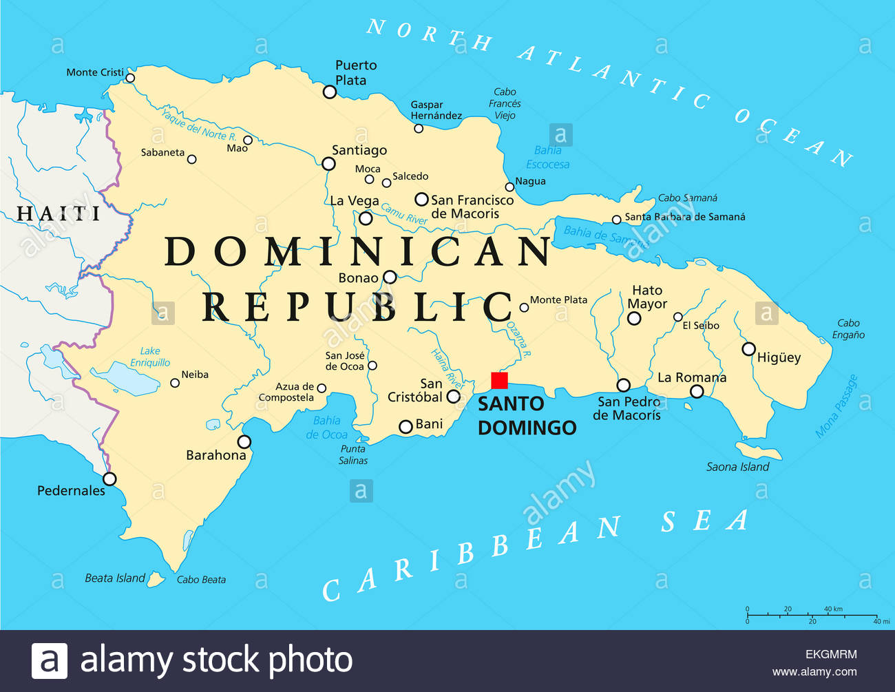 Map Of Dominican Republic From Alamy 5