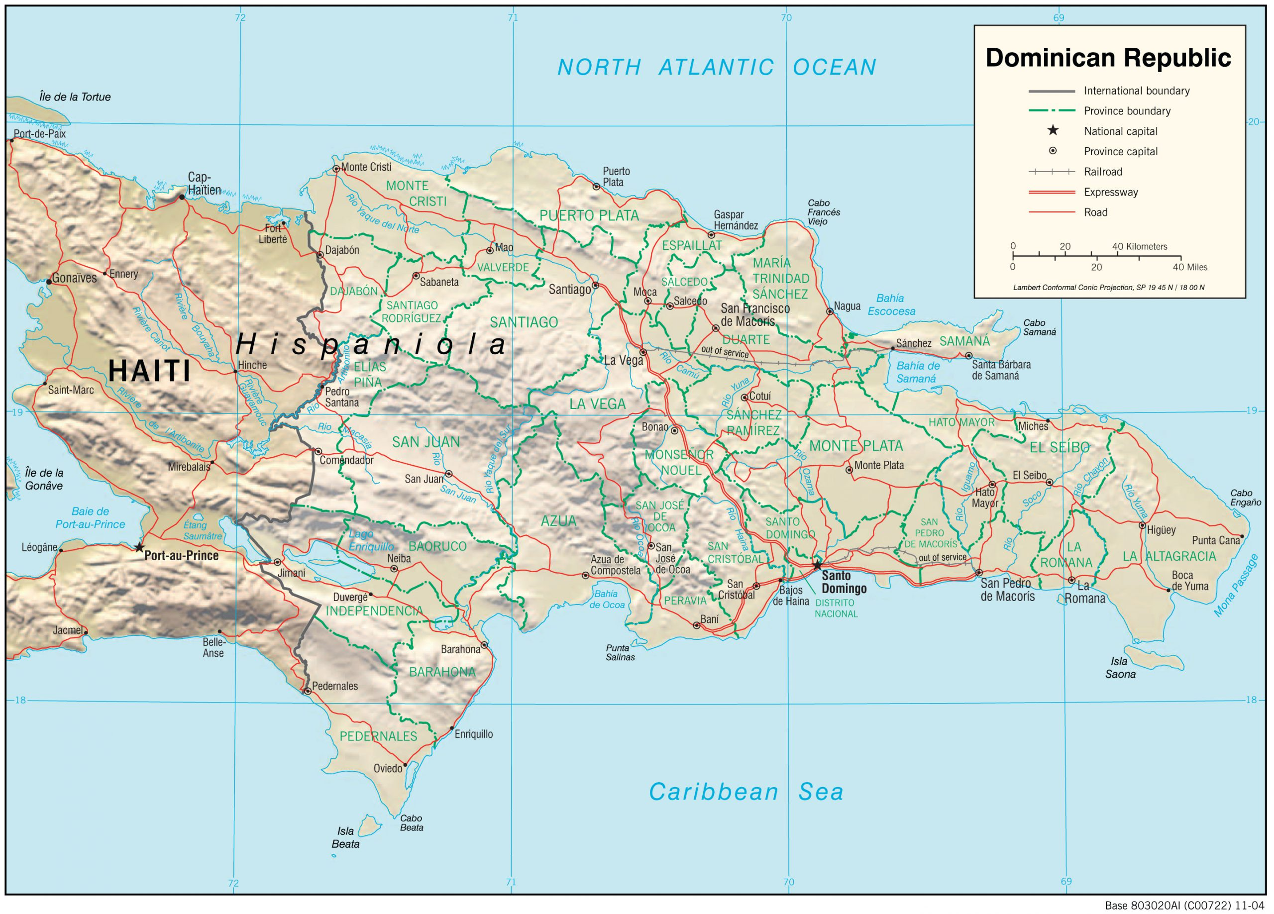 Map Of Dominican Republic From Lib 10