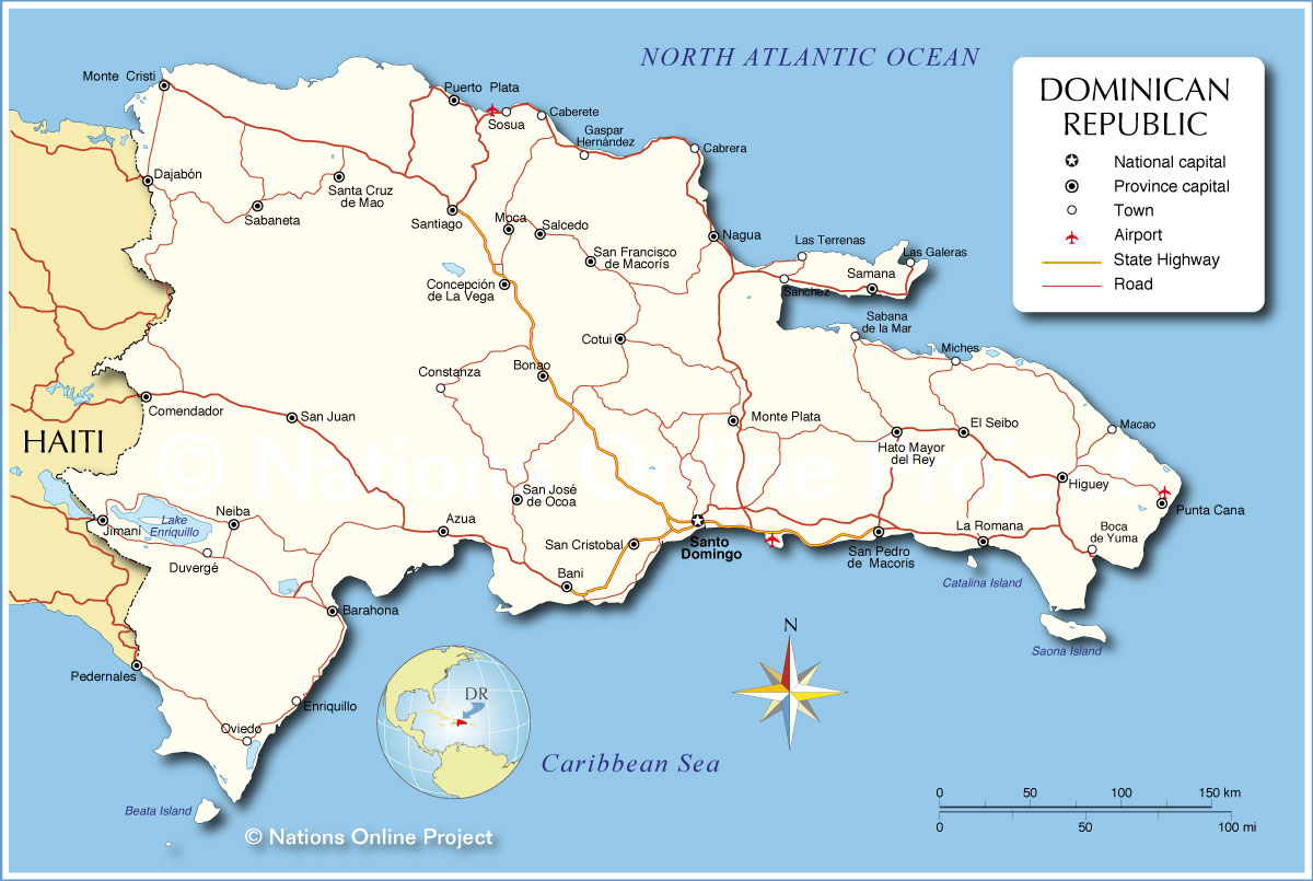 Map Of Dominican Republic From Nationsonline 2