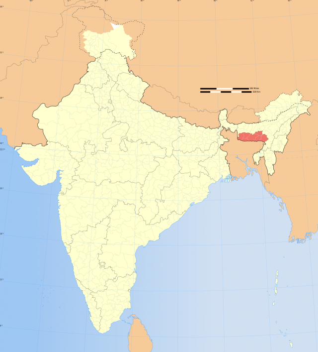 Meghalaya In India Map