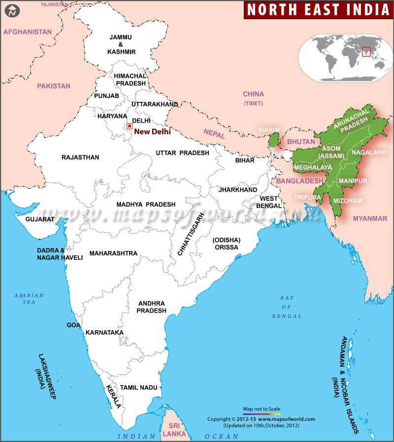 Meghalaya In India Map From Pinterest 8