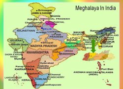 Meghalaya in india map from shaining 6
