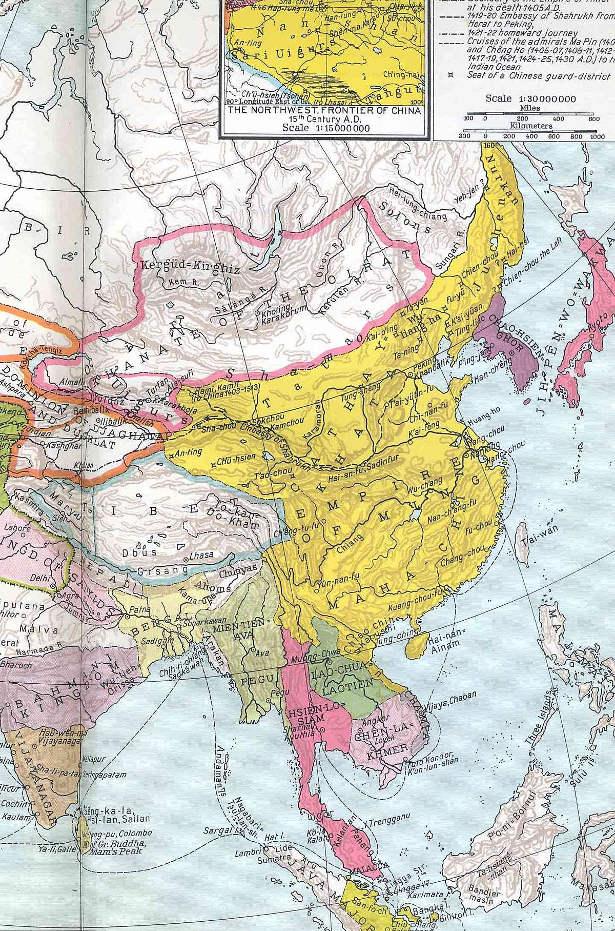 Ming Empire Map From En 8