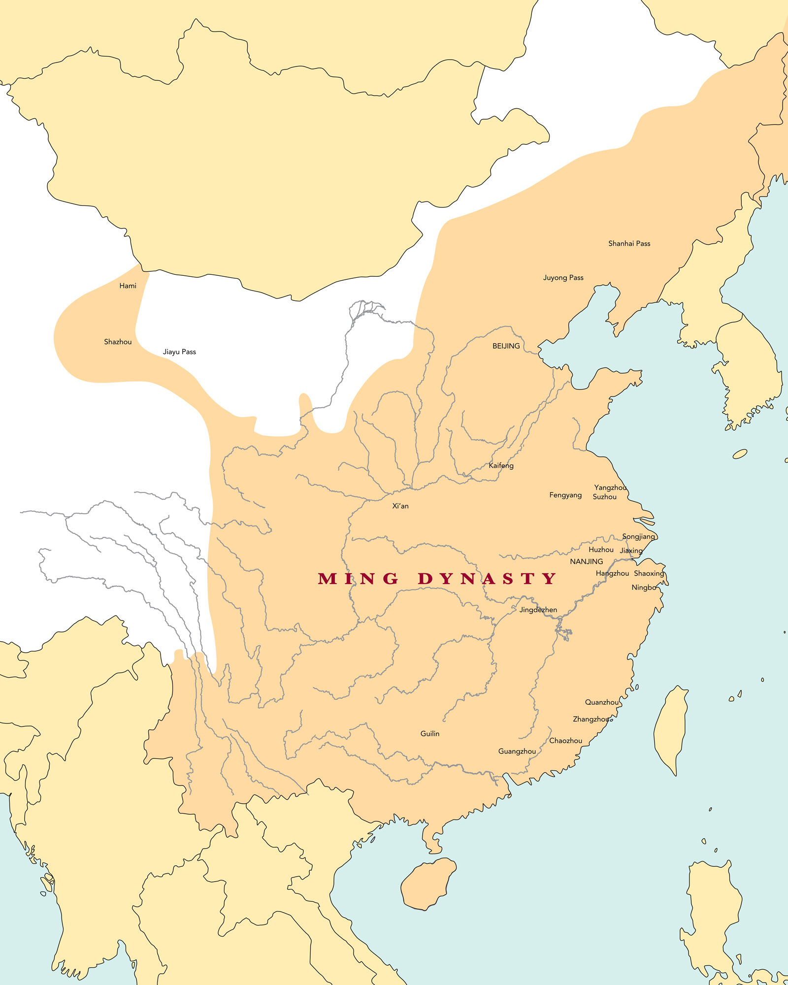 Ming Empire Map From Khanacademy 5