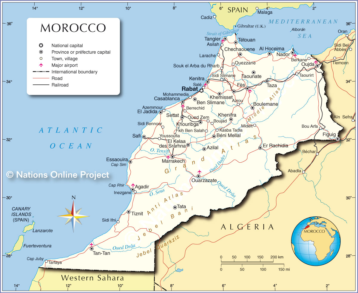 Morocco Map From Nationsonline 3