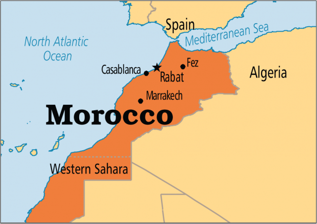 Morocco map from pinterest 1