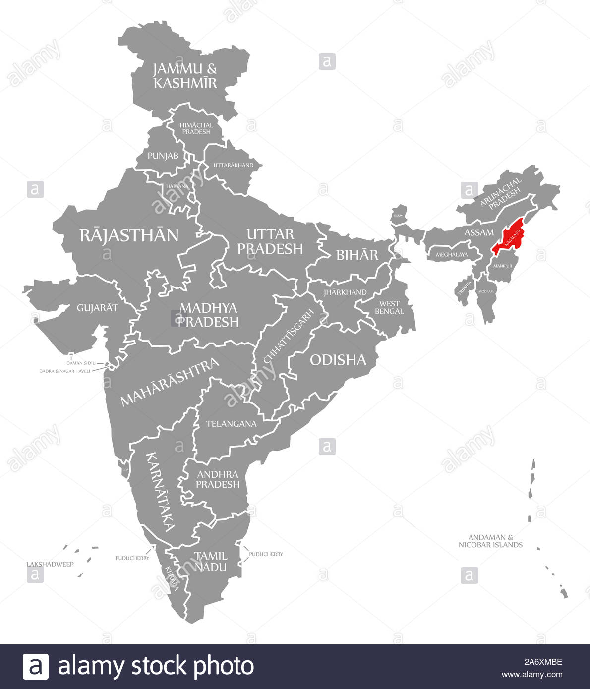 Nagaland Map From Alamy 7