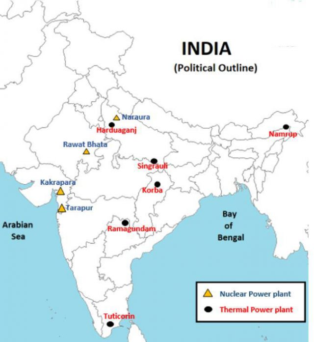 Narora nuclear power plant in india map from brainly 2