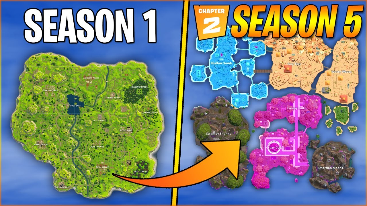 New Fortnite Map Chapter 2 Season 5 From Youtube 1