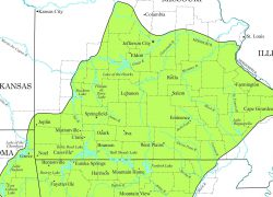 Ozark mountains map from news leader 3