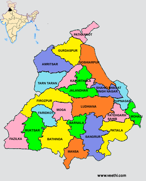 Punjab Map From Pinterest 1