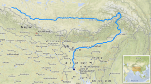 River Brahmaputra In India Map From En 1