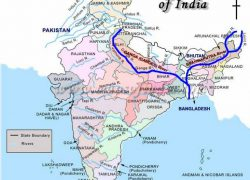 River brahmaputra in india map from pinterest 4