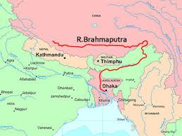 River Brahmaputra In India Map From Pinterest 7