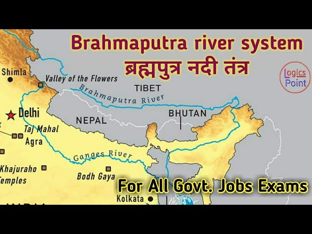 River Brahmaputra In India Map From Youtube 8