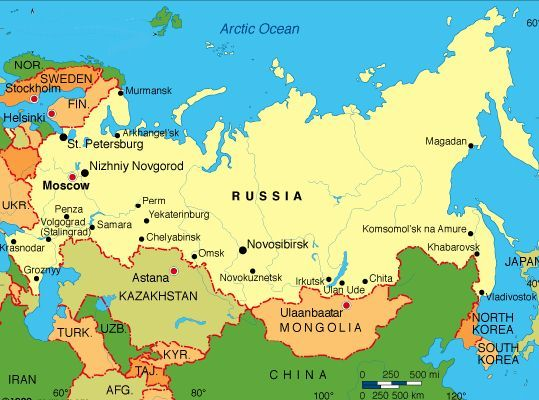 Russia In World Map