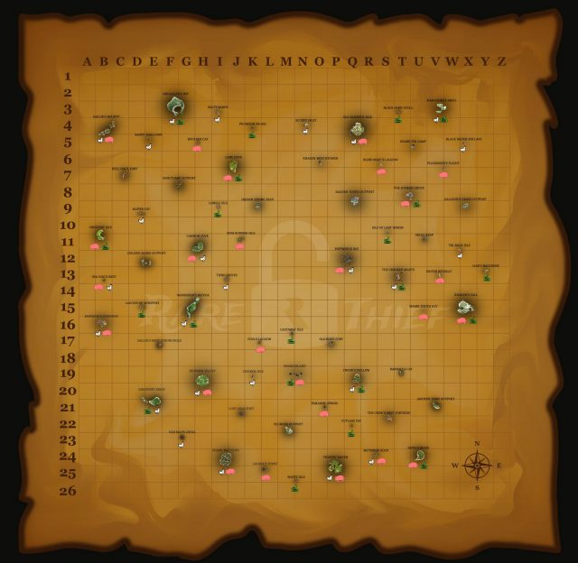 Sea of thieves animal map from reddit 1