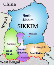 Sikkim ka map from in 1