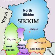 Sikkim map from in 9