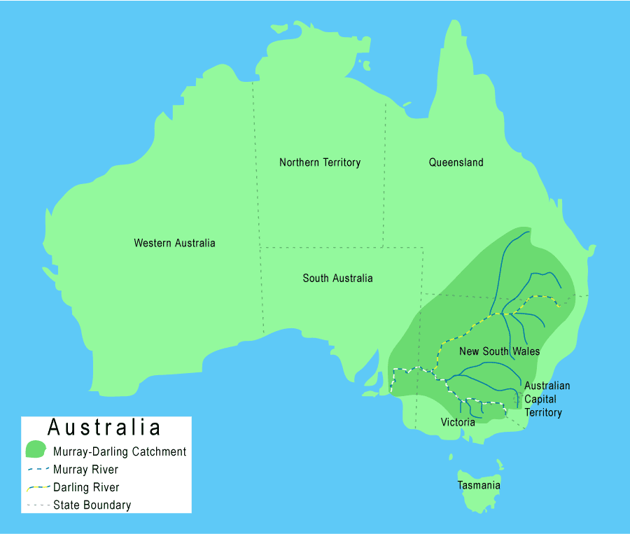 Darling River Map From Mldrin 8