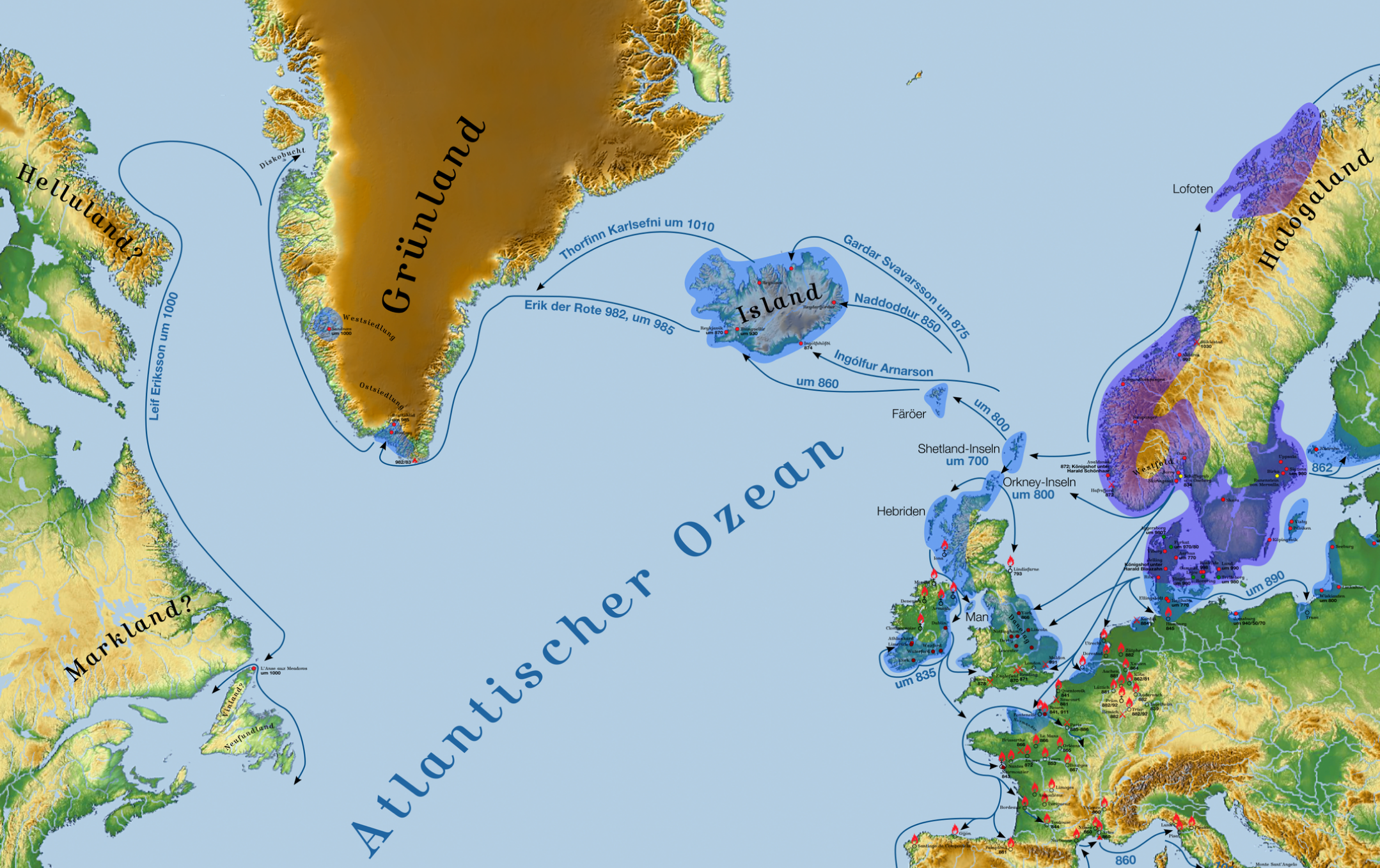 Leif Erikson Map From Explorerspodcast 10