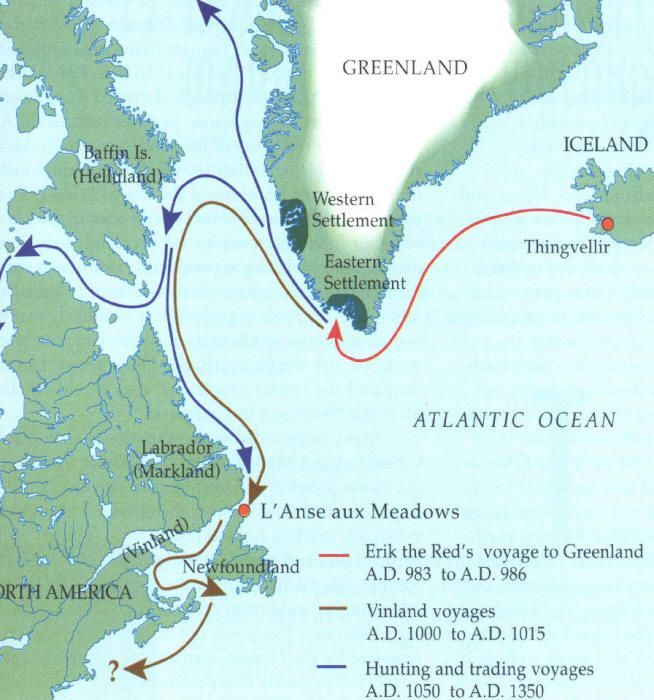 Leif Erikson Map From Pinterest 4