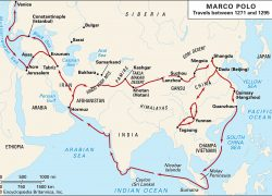 Marco polo explorer map from britannica 2