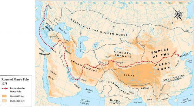 Marco polo map from themaparchive 1