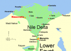 Nile Delta Map: Nile delta map from en 1
