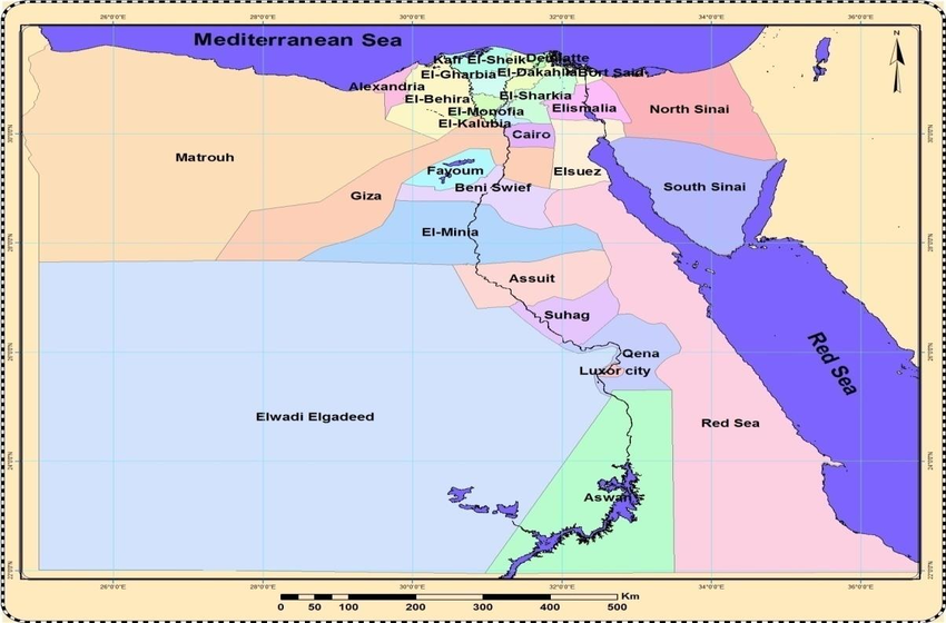 Nile Delta Map From Researchgate 8