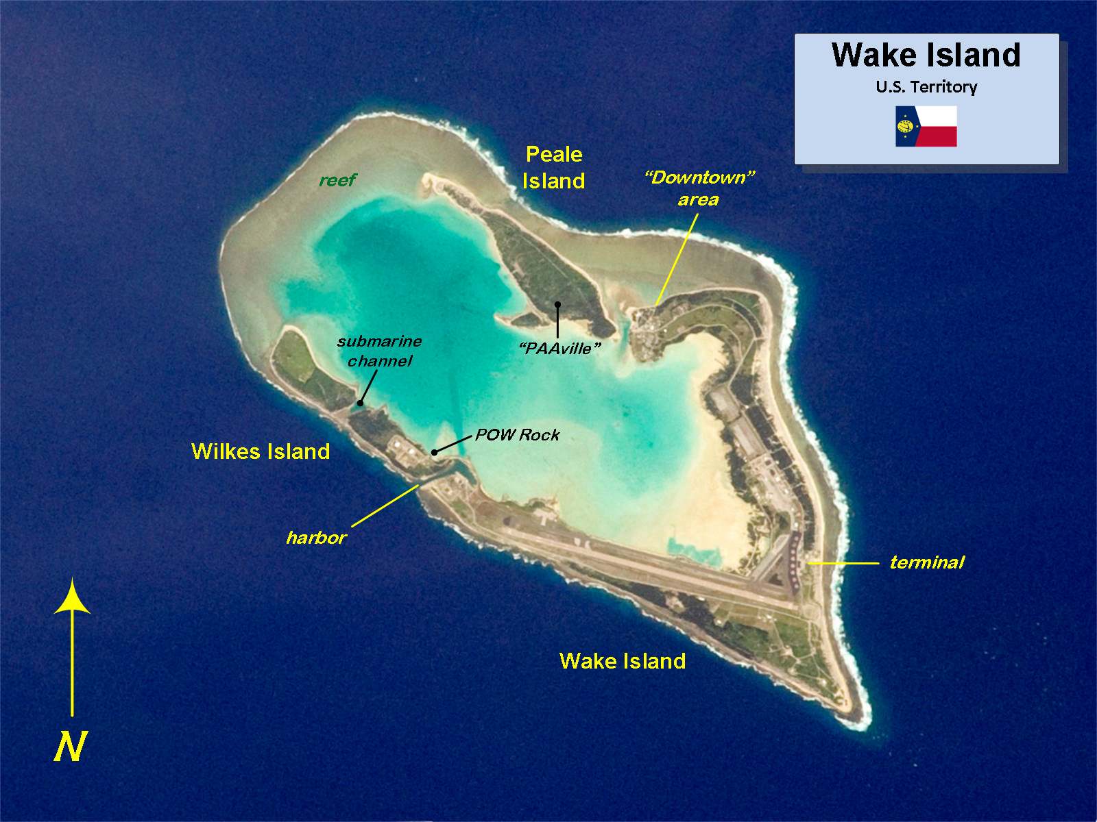 Wake Island On World Map From En 9