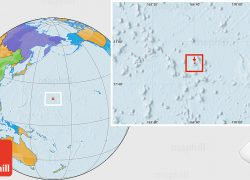 Wake island on world map from maphill 6