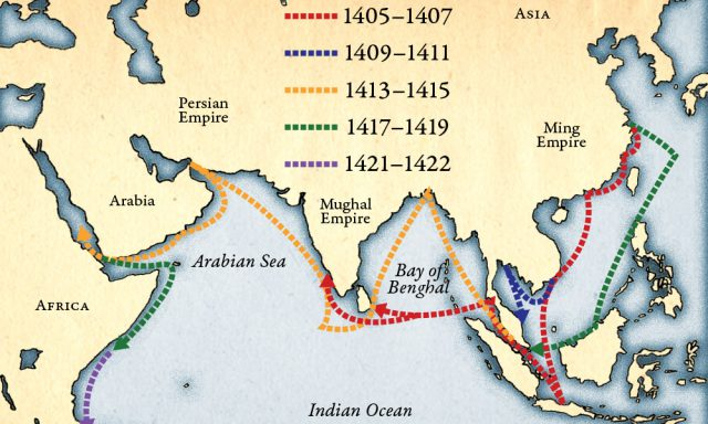 Zheng He Map Route