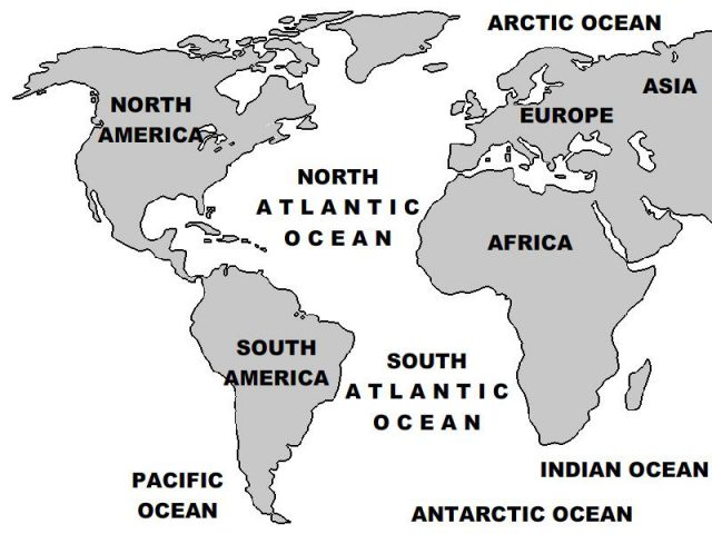 All Oceans Map