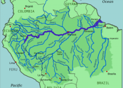 Amazon River Map: Amazon river map from en 1