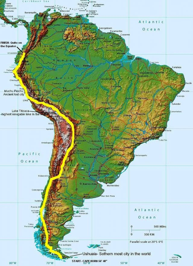 Andes Mountains Map