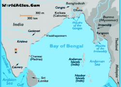 Bay of bengal on world map from researchgate 3