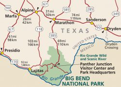 Big Bend National Park Texas Map: Big bend national park texas map from npmaps 2