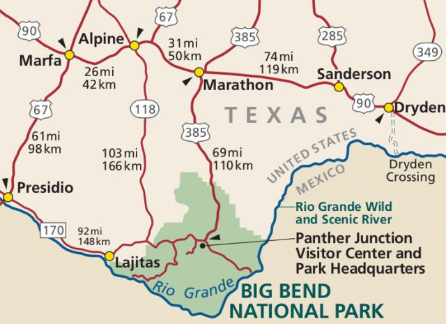 Big bend national park texas map from npmaps 2