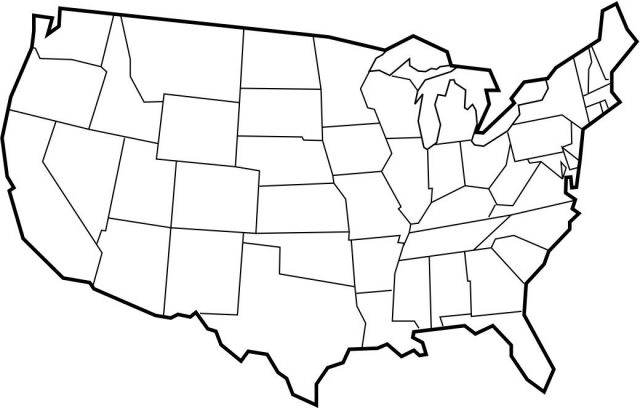 Blank map of the united states from pinterest 1