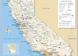 California Map: California map from nationsonline 1