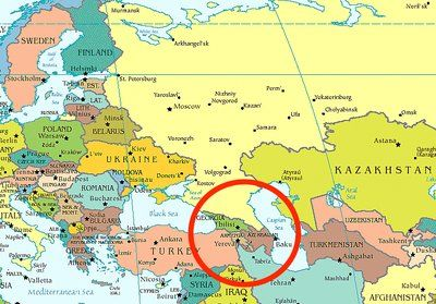 Caucasus Mountains On World Map From Pinterest 1