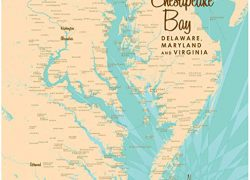Chesapeake Bay Map: Chesapeake bay map from amazon 1