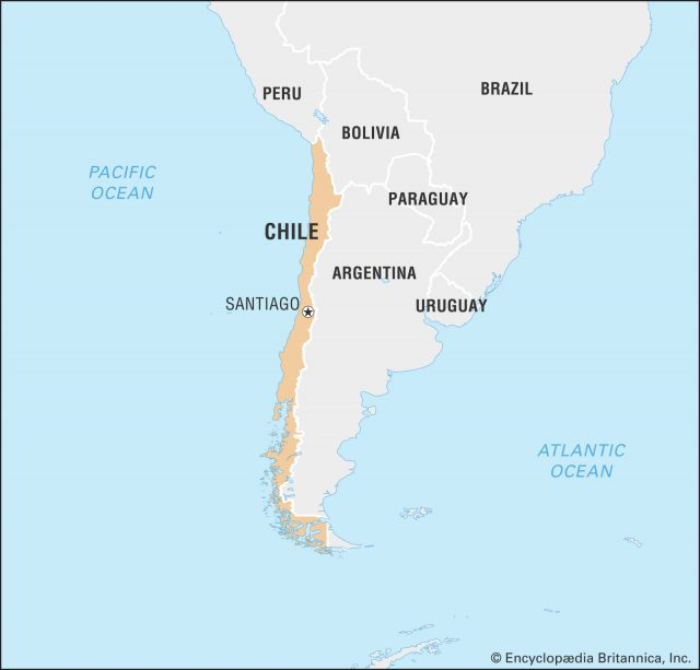 Chile On World Map
