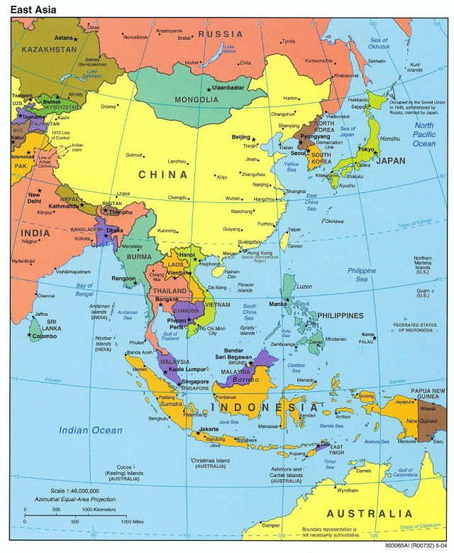 East asia map from pinterest 1
