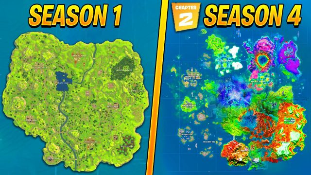 Fortnite chapter 2 season 4 map from youtube 1